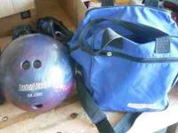 I'm selling this bowling ball with bag. Bowling ball