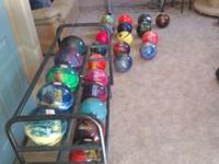 I have un used bowliing balls...not drilled. Different