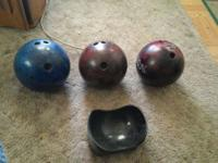 Three bowling rounds. Used. Unable to physically bowl