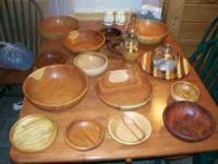 Wood bowls and other turned items domestic and imported