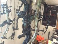This is a camo with black limbs, 2013 Insanity CPX,