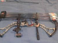 I have a left handed bowtech insanity for sale. 80