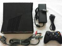Slim Xbox 360 for SALE, includes a 20GB HDD with power