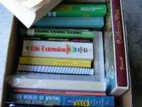 Here are 20+ books. Self help books, medical, calculus
