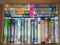 Box of Kids Disney VHS Tapes only $50.00 can be reached