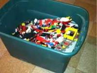 Large storage bin of legos, thousands spent over the