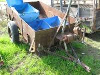 used seven by four all metal trailer...7.00-15