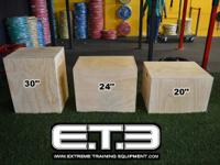 ETE - 3-in-1 Wood Plyo Box3 box jump heights in