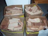 For sale are Boxes of Kindling Wood that includes Oak