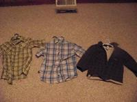 BOY CLOTHES, GREAT CONDITION, SIZE SMALL, MED. AND
