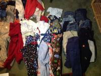13 receiving blankets, 12 shirts, 20 onesies, 15