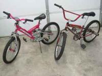 "Both are Pacific 20"" bikes are $35 for set. If you want"
