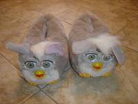 I have a brand new pair of grey Furby slippers tag was