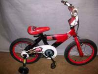 "THIS IS A ( NEVER USED ) BOY'S 16"" HUFFY DISNEY CARS"