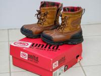 US size 10 Boy's Boots with Box included. Only used 1