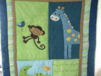 Child's Crib Bedding Quilt and Bed skirt(Used for 3