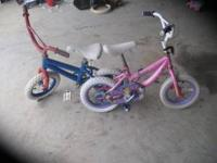 "Boy's & girl's 12"" bikes, $15.00 each or $25.00 for"