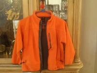 Orange Yellow Color Boy's Jacket, size S (6-7)