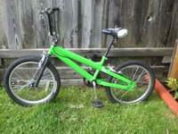 "Boy's Mongoose-style bike, hand brakes, 20"" tires."