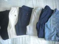 5 pairs of boys pants and 1 pair of shorts all in great