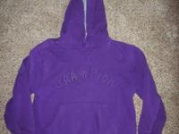 #1--Youth size medium (10-12?) purple hoodie. Asking