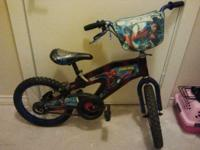 "I believe this Spiderman Bike is a 16"". My son starting"