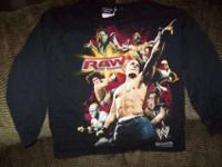 WWE World Wrestling Entertainment Boys Black Shirts