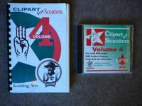 Volume 4 CD of Clipart for Scouting.  Has 2,400 Images
