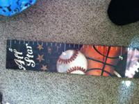 I have for sale: 5ft sports themed growth chart. It was