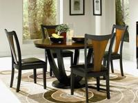 Boyer Dining Group * Made of solids with a veneer. *