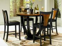Boyer Round Counter Height Table Set * Made of solids