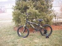Boys 14' black and gold Kobra (razor) bike,in great