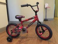 Boys' 14 inch Avigo Burner Bike. Excellent Condition.
