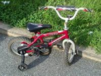 My child has outgrown his first bike, so I'm selling it