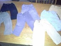There are seven pairs of good used pants here. A couple