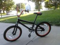 non-adult sized huffy, about a year old. Black with