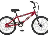 Boys Schwinn Falcon BMX Style Bicycle. Red with Black