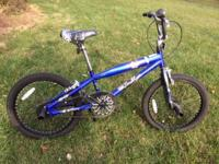 "Boys 20"" trick bicycle, fron & rear pegs, Like new;"