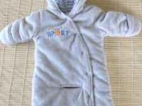 Boys 3m - 6m Fuzzy Suit - made to go in car or