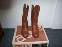 Beautiful Brown Acme Leather boys cowboy boots.