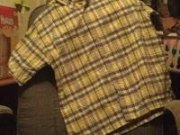 four, size 10/12 boys button downs, Faded Glory brand.