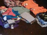 Boys clothes size small 4-5 pajamas shirts pants 2 bags