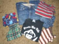 Bag of boys clothes. Sizes 6/7 and some 8. Gap jeans,