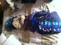 Gently used Boys clothing, sneakers, boots, messenger
