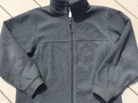 Boy's Columbia Fleece Jacket Color - Gray Size 10/12