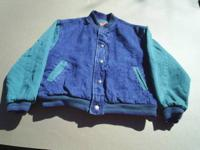Boys Denim Jacket Size: L Five Snaps front closure New
