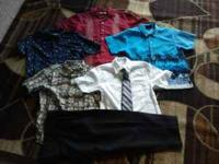 I have 4 dress shirts sz 6/7 and 1 suit sz 8. They are