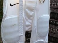 Nike Size 10 white football pants with pads. Original