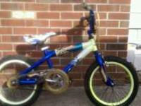 This is a 16in boys hot wheels bike it has a couple