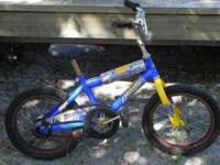 "Boys 16"" Huffy BMX Bike Great condition, but wheels"